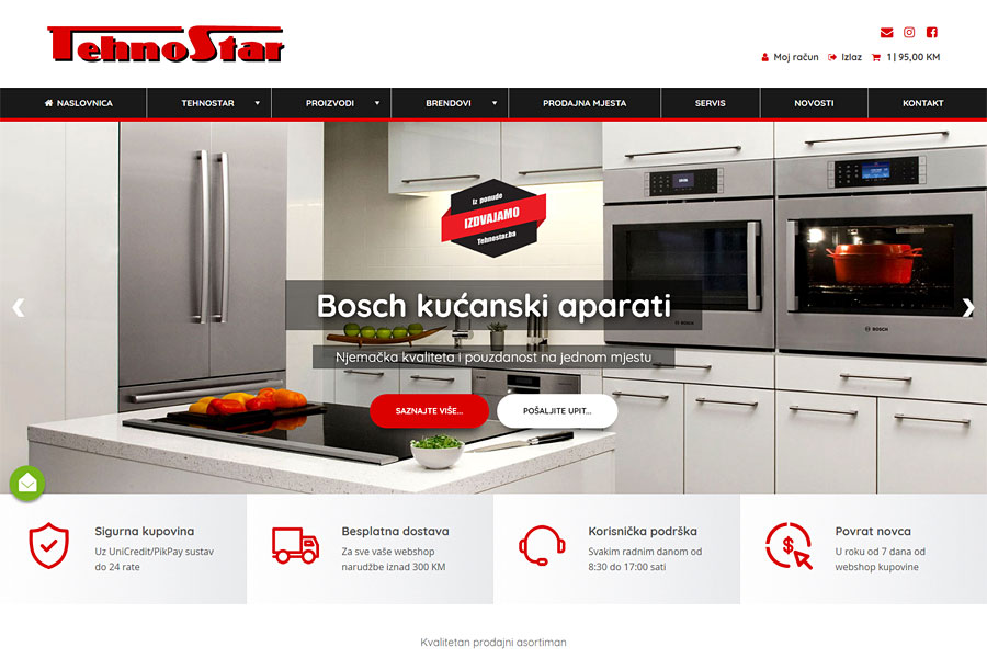 Nove web stranice www.tehnostar.ba