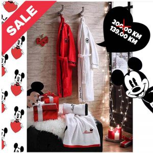 TAC Micky and Minnie bademantil set