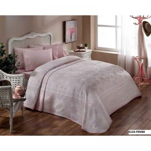 TAC posteljina sa prekrivacem Eliza roza