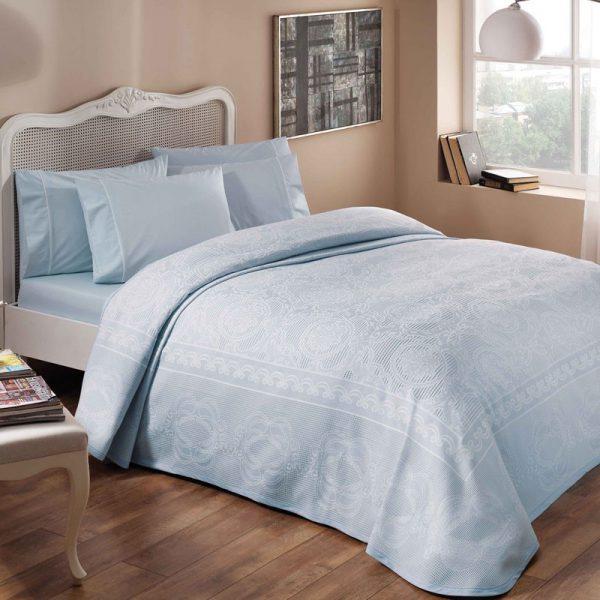 TAC posteljina sa prekrivacem plava